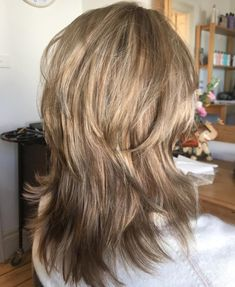 Blonde Shag With Reverse Ombre