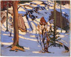 Tom Thomson Art - West Wind - The art vision of Tom Thompson Winter Landscape, Landscape Art, Landscape Paintings, Landscapes, Oil Paintings, Small Paintings, Emily Carr, Canadian Painters, Canadian Artists