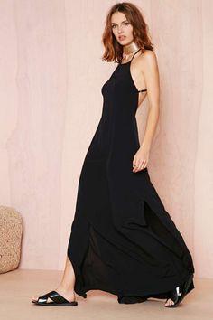 Flame Game Dress - Black