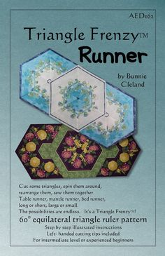 Triangle Frenzy Runner pattern by Bunnie Cleland - Free Shipping