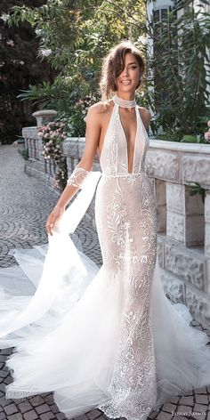 elihav sasson 2018 capsule bridal sleeveless high neck deep plunging v neck full. - Braut, Brautkleider, Brautschuhe, Brauthaar, Braut Make-up elihav sasson 2018 capsule bridal sleeveless high neck deep plunging v neck full. Wedding Dresses 2018, Bridal Dresses, Bridal Collection, Dress Collection, Dress Vestidos, Mermaid Dresses, The Dress, Marie, Neck Deep