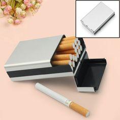 Plata Pitillera Caja de 20 Librillos Cigarrillos Accesorio para ...