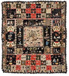 71: A fine and important felt appliqué and patchworked : Lot 71 The Ann West Coverlet