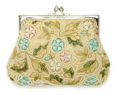 Floral Beaded and Embroidered clutch  Featured in GLAMOUR magazine  www.moynabags.com  more colors available