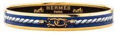 Hermes Narrow Enamel Bangle Bangle Bracelets, Bangles, Embroidered Clothes, Hermes, Plating, Enamel, Brass, Gold, Vintage