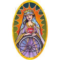 Madonna del Ghisallo, Patron Saint of Cyclists Sticker