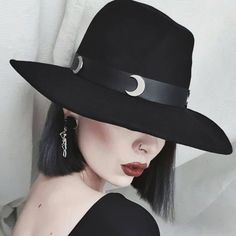 Killstar - Eternal Eclipse Fedora Hat - #hats #nugoth #accessories