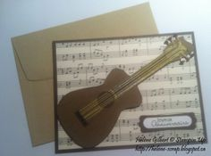 Stampin Up Punch art - Guitare
