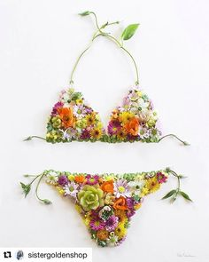 My kinda 'kini. #garden #flowers #gardenwhimsy #gardenart design and photo by @sistergoldenshop