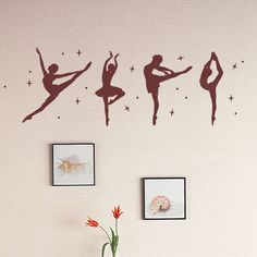 Wall stickers decoration cartoon ballet girl music tv dance l-00(China (Mainland))