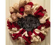Burlap Christmas wreath | CraftOutlet.com Photo Contest - CraftOutlet.com