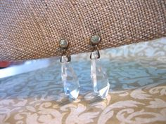 Art Deco Dangle CRYSTAL Earrings by charmingellie on Etsy, $18.00