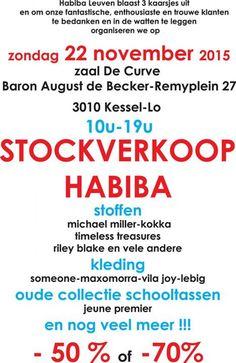 Habiba Stockverkoop stoffen, kleding en meer -- Kessel-Lo -- 22/11
