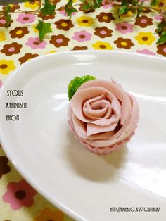 Fun Food Kids sausage rose Mortadella Rose Muffinförmchen Beilage Blume Fleisch Aufschnitt easy einfach side flower meat ham