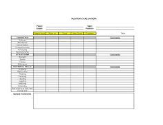 soccer player evaluation form - Google Search | My life of sports ...