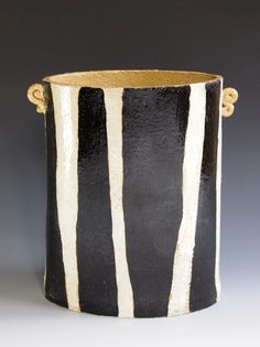 Zebra vase slab built by Andy Titcomb 19cm x 18cm £95