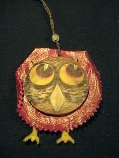 VINTAGE CHILD'S SMALL OWL PURSE