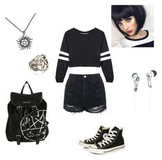 """""""Trying to be normal"""" by lavender-winchester ❤ liked on Polyvore featuring art"""