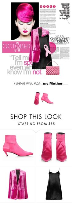 """""""I Wear Pink for...my Mother"""" by lacas ❤ liked on Polyvore featuring Balenciaga, Religion Clothing, Haider Ackermann, Boohoo, Prada and IWearPinkFor"""