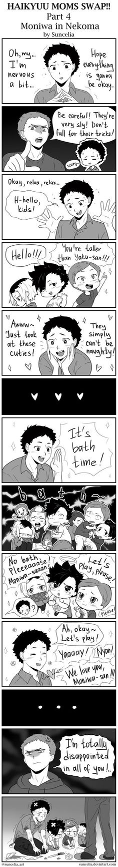 "I just love the idea too much. Once the word ""bath"" was heard they all immediately froze and shivered."
