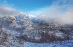 Winter's view of the Glenfinnan Viaduct