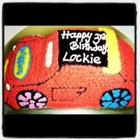 The Wiggles Big Red Car shaped ice cream birthday cake for kids! Serves 23 to 26 people. Birthday Cake Shop, Ice Cream Birthday Cake, Wiggles Party, The Wiggles, Car Shaped Cake, Tasty Ice Cream, Kai, Birthdays, Shapes