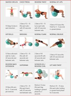 The exercise ball is one route to getting fit to ride.