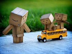 Taking the school bus!