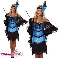 Ladies 20s 1920s Charleston Flapper Chicago Fancy Dress Costume Black Boa 88ba833d548