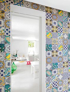 vintage tiled room Handmade tiles can be colour coordinated and customized re. shape, texture, pattern, etc. by ceramic design studios
