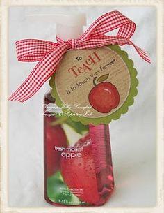 teacher gift - apple hand soap