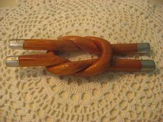 vintage wood carved knot