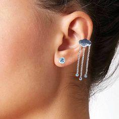 Dangly Earrings, Diamond Earrings, Drop Earrings, Silver Ear Cuff, Jewelry Design, Unique Jewelry, Silver Jeans, Peridot, Ear Piercings