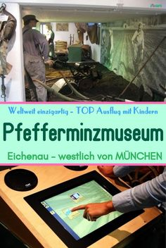 """Ein Museum für das """"Bauchwehkraut"""". Eine Rarität in der vielfältigen Museumslandschaft in Deutschland findet man in Eichenau, 25 km westlich von München: Das weltweit einzige Pfefferminzmuseum. Es spricht alle fünf Sinne an: Sehen, Hören, Spüren und sogar Schmecken und Riechen. #pfefferminze #ausflugszielemünchen #museumkindermünchen #indoortippsmünchen #ausflugstippsmünchen #sonntagsausflug #sonntagmitkindern S Bahn, Museum, Amusement Parks, Peppermint, Playground, Families, Museums"""