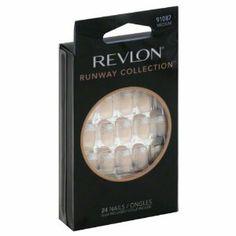 Revlon Nails, Medium 91087 24 nails by Revlon. $1.14. Compares to 50$ Salon Style!. 24 nails. Glue included. 1 Maxi-Bond Glue net wt. 0.10 oz (3 g), 1 bond enhancer buffer, 1 manicure stick.