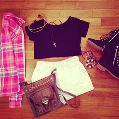 Love the flannel with this!! And the shoes!!