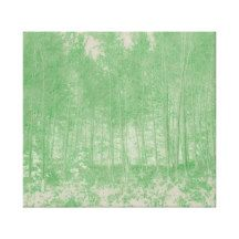 Spring Green Trees Wall Art