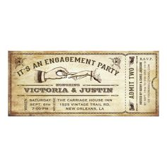 Discount Deals Vintage Engagement Party Ticket Invitation III We provide you all shopping site and all informations in our go to store link. You will see low prices on