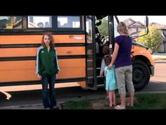School Bus Safety Video-skip to minutes in for video modeling School Bus Safety, School Buses, School Bus Driver, Safe Schools, Teaching Schools, Teaching Technology, Smart Board Activities, How To Focus Better, Stranger Danger