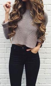 fall fashion crop top sweater