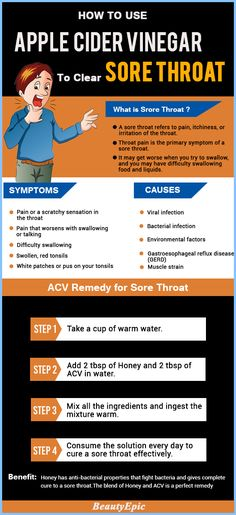 How To Use Apple Cider Vinegar To Clear Sore Throat