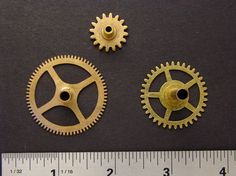 Antique brass gears vintage clock wheels by SteampunkArtSupplies, $10.95