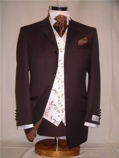 chocolate brown grooms suit