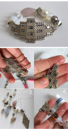 Simple beaded bracelet DIY