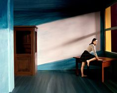 A series from but some reasons feels very relevant right now. French photographer couple Clark et Pougnaud shot this stunning tribute to Edward Hopper… Double Exposition, Edward Hopper Paintings, Photography Series, Narrative Photography, Realistic Paintings, French Photographers, Pictures To Paint, Art Pictures, Solitude