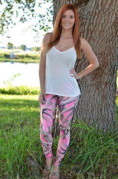 Sporty Girl Apparel -  Pink Antler leggings , $49.95 (http://www.sportygirlapparel.com/pink-antler-leggings/)
