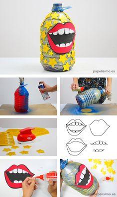 Esta botella es una vasija mágica que se llena con las risas de los niños y puede usarse como herramienta de juegos para niños o dinámicas de grupo