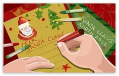 Christmas Art Illustration - Digital Christmas Artwork - Letter to Santa - Digital Christmas Art Illust 9 Happy Merry Christmas, Old Christmas, A Christmas Story, Christmas Humor, Christmas Holidays, Christmas Cards, Christmas Artwork, Christmas Wallpaper, Widescreen Wallpaper