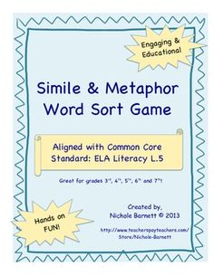 This engaging, educational game will help you address the Common Core Standard: CCSS.ELA Literacy L.5 It's great for 3rd-7th grade.  This ...