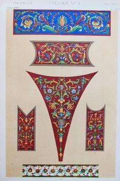 Owen Jones die Grammatik der Ornament antike Farbe Druck